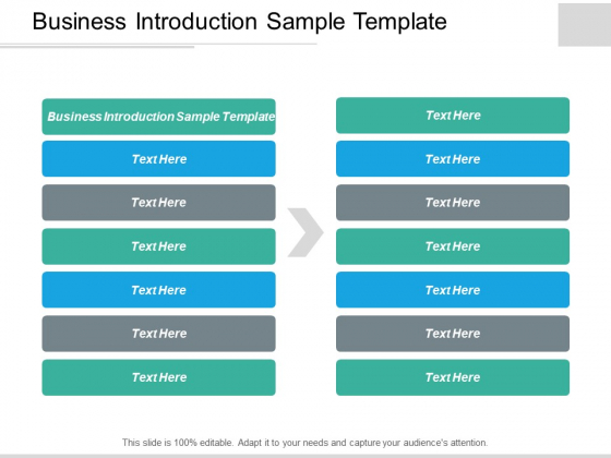 Business Introduction Sample Template Ppt PowerPoint Presentation Portfolio Sample Cpb