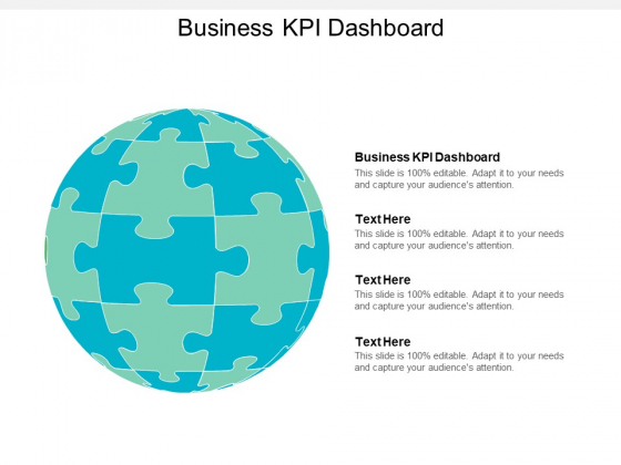 Business KPI Dashboard Ppt PowerPoint Presentation Styles Deck Cpb