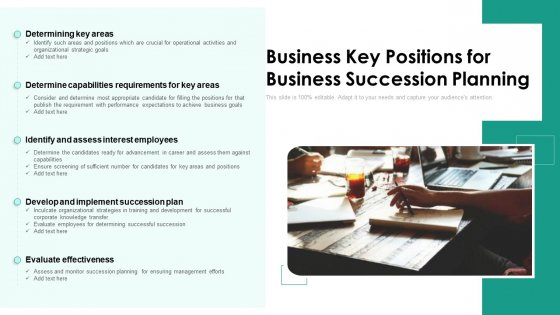 Business Key Positions For Business Succession Planning Ppt PowerPoint Presentation File Layouts PDF