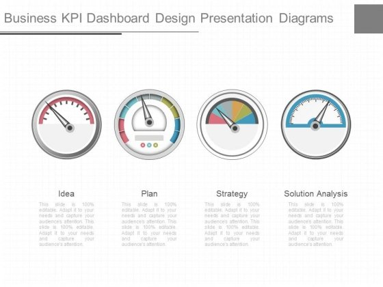 Business Kpi Dashboard Design Presentation Diagrams