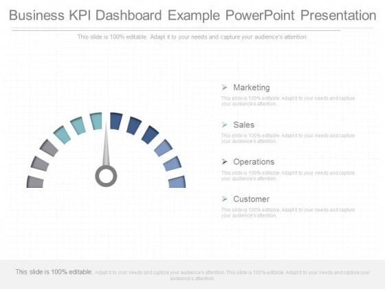 Business Kpi Dashboard Example Powerpoint Presentation