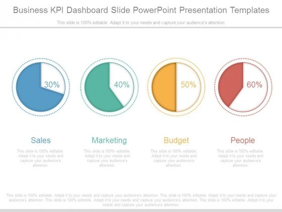 Business Kpi Dashboard Slide Powerpoint Presentation Templates