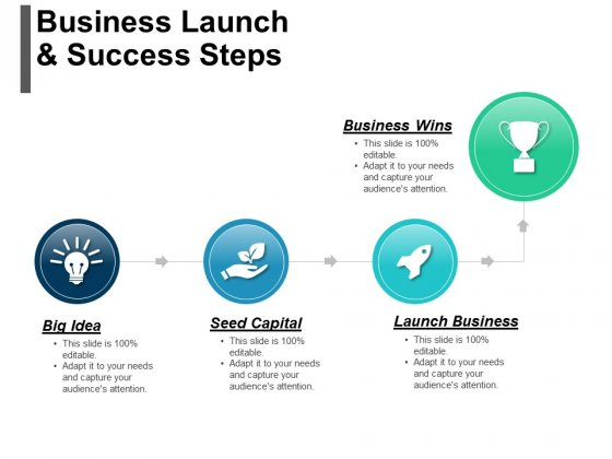 Business Launch And Success Steps Ppt PowerPoint Presentation Infographics Outfit