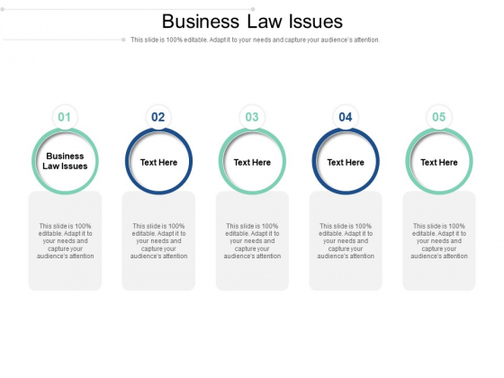 Business Law Issues Ppt PowerPoint Presentation Infographics Example Cpb Pdf