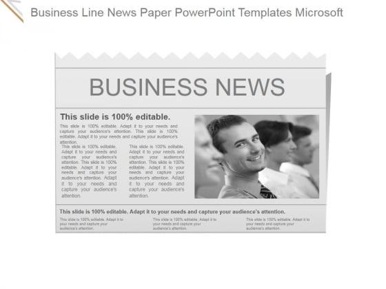 Business Line News Paper Ppt PowerPoint Presentation Design Ideas