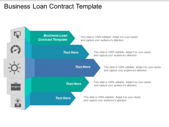 Business Loan Contract Template Ppt PowerPoint Presentation Gallery Inspiration Cpb