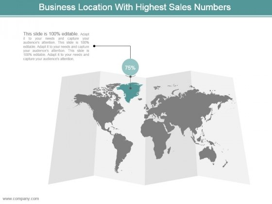 Business Location With Highest Sales Numbers Powerpoint Templates