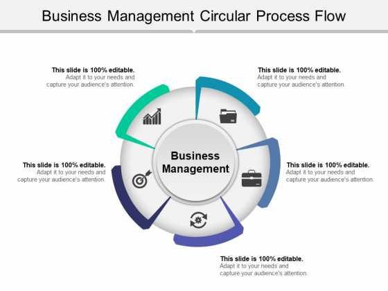 Business Management Circular Process Flow Ppt PowerPoint Presentation Styles Pictures