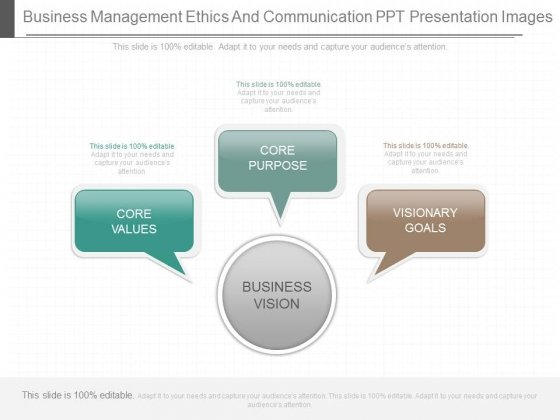 Business Management Ethics And Communication Ppt Presentation Images