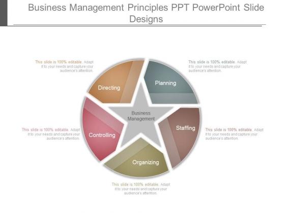 Business Management Principles Ppt Powerpoint Slide Designs