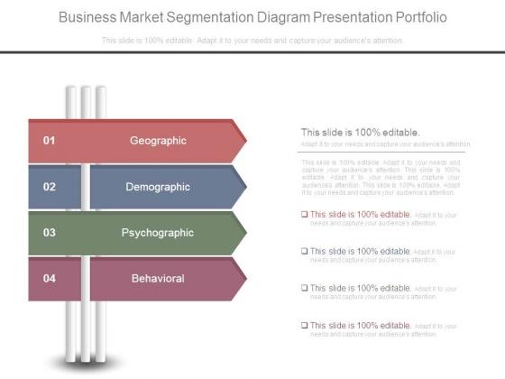 Business Market Segmentation Diagram Presentation Portfolio
