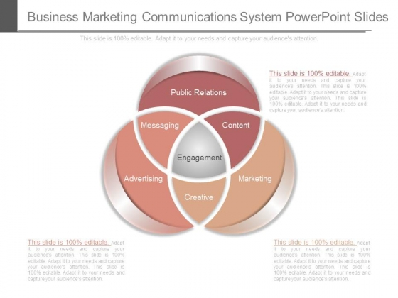 Business Marketing Communications System Powerpoint Slides