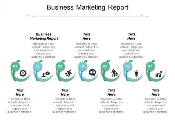 Business Marketing Report Ppt PowerPoint Presentation Portfolio Deck Cpb