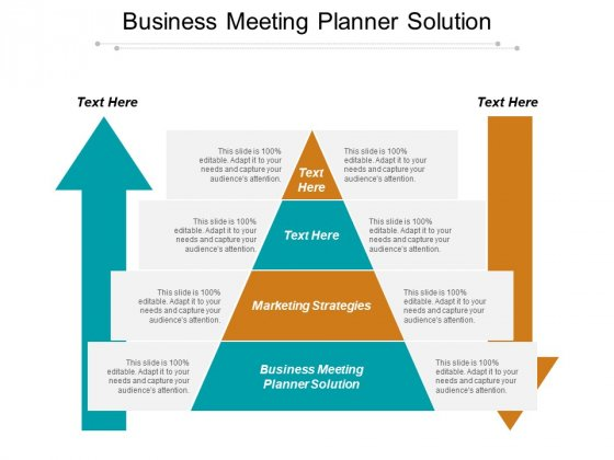 Business Meeting Planner Solution Ppt PowerPoint Presentation Show Gridlines
