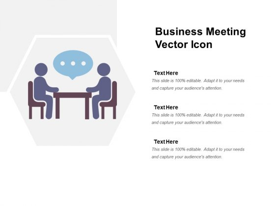 Business Meeting Vector Icon Ppt PowerPoint Presentation Gallery Guidelines