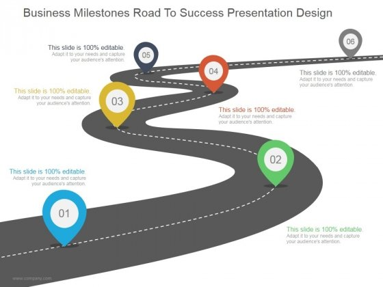 Business Milestones Road To Success Ppt PowerPoint Presentation Styles