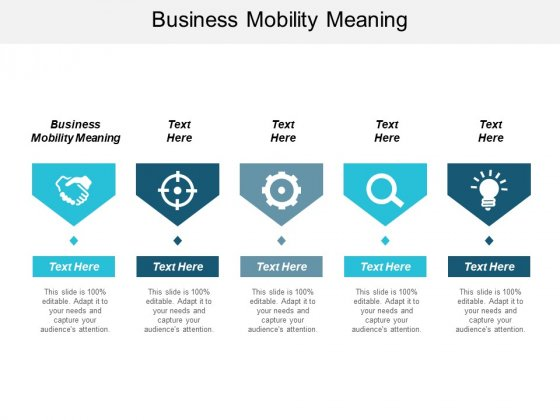 Business Mobility Meaning Ppt Powerpoint Presentation Pictures Professional Cpb