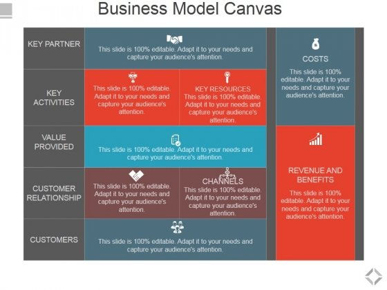 Business Model Canvas Template  Ppt Powerpoint Presentation