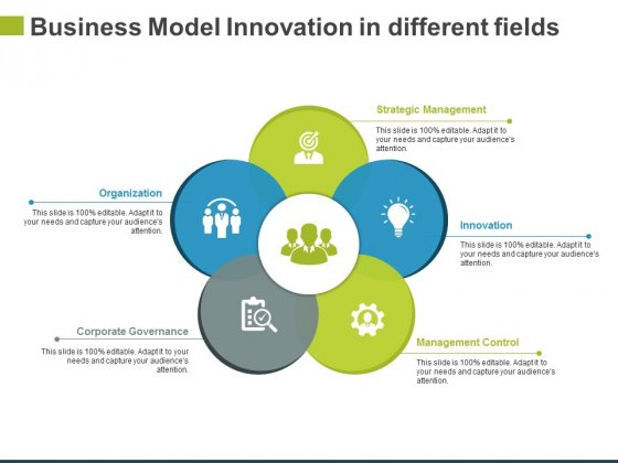 Business Model Innovation In Different Fields Ppt PowerPoint Presentation Infographics Slide Download