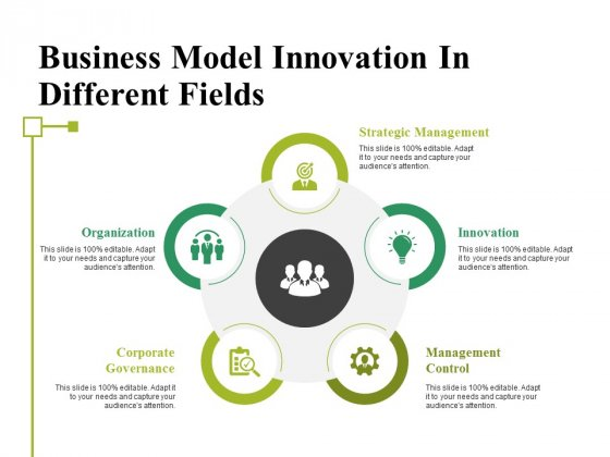 Business Model Innovation In Different Fields Ppt PowerPoint Presentation Summary Background Designs