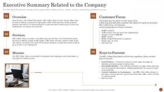 Business Model Opening Restaurant Executive Summary Related To The Company Structure PDF