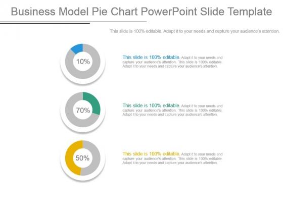 Business Model Pie Chart Powerpoint Slide Template