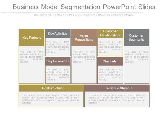 Business Model Segmentation Powerpoint Slides