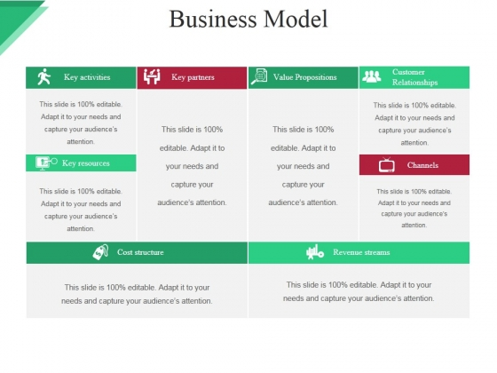 Business Model Template Ppt PowerPoint Presentation File Backgrounds