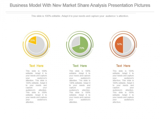 Business Model With New Market Share Analysis Presentation Pictures