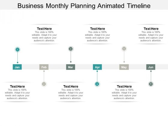 Business Monthly Planning Animated Timeline Ppt PowerPoint Presentation Inspiration Background Images