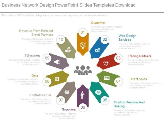 business network design powerpoint slides templates download