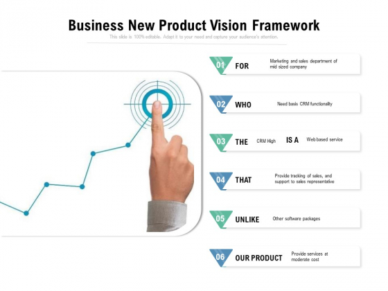Business New Product Vision Framework Ppt PowerPoint Presentation Icon Background Images PDF
