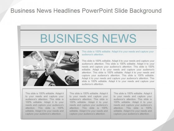 Business News Headlines Ppt PowerPoint Presentation Show