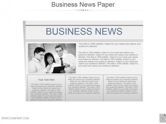Business Newspaper Ppt PowerPoint Presentation Examples