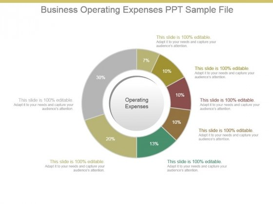Business Operating Expenses Ppt Sample File