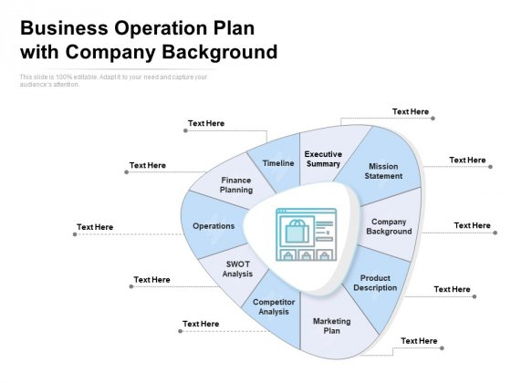 Business Operation Plan With Company Background Ppt PowerPoint Presentation Inspiration Picture