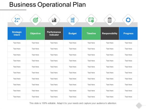 Business Operational Plan Management Ppt PowerPoint Presentation Show Outline