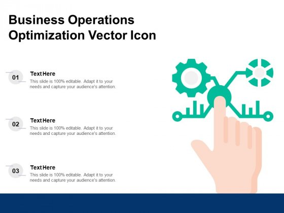 Business Operations Optimization Vector Icon Ppt PowerPoint Presentation Gallery Information PDF