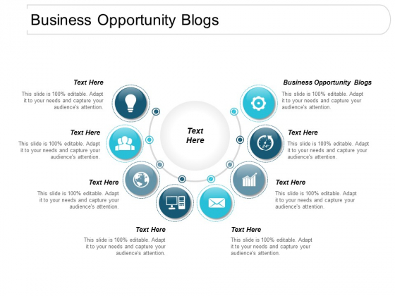 Business Opportunity Blogs Ppt Powerpoint Presentation Icon Background Image Cpb