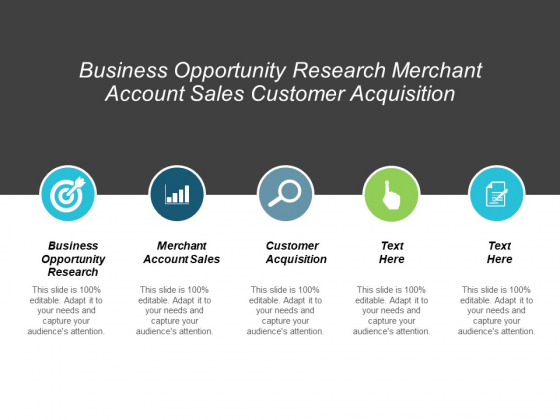 Business Opportunity Research Merchant Account Sales Customer Acquisition Ppt PowerPoint Presentation Summary Grid