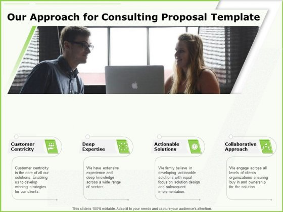 Business Our Approach For Consulting Proposal Template Ppt Slides Styles PDF