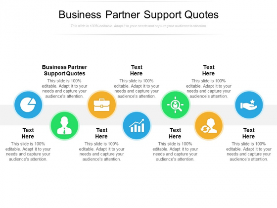 Business Partner Support Quotes Ppt PowerPoint Presentation Infographic Template Designs Download Cpb Pdf