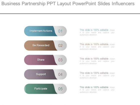 Business Partnership Ppt Layout Powerpoint Slides Influencers