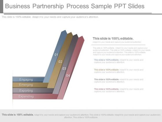 Business Partnership Process Sample Ppt Slides