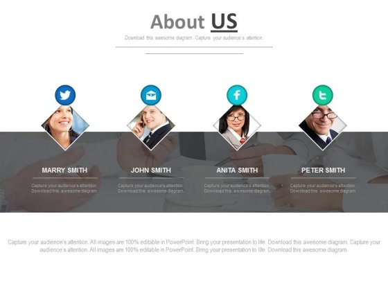 Business People Profile For Social Media Powerpoint Slides