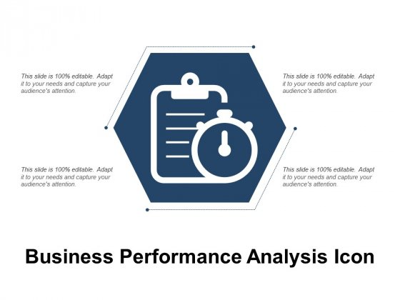Business Performance Analysis Icon Ppt PowerPoint Presentation Visual Aids Backgrounds