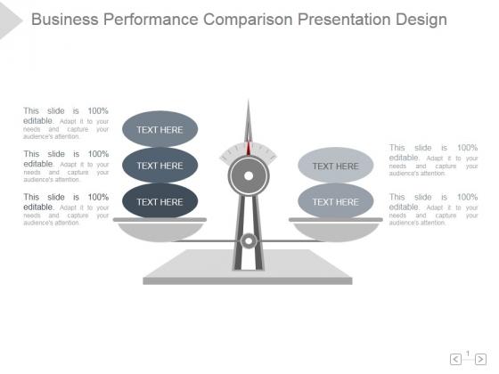 Business Performance Comparison Ppt PowerPoint Presentation Summary