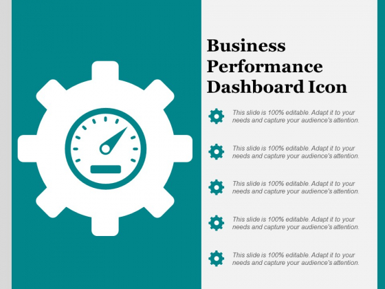 Business Performance Dashboard Icon Ppt PowerPoint Presentation File Images