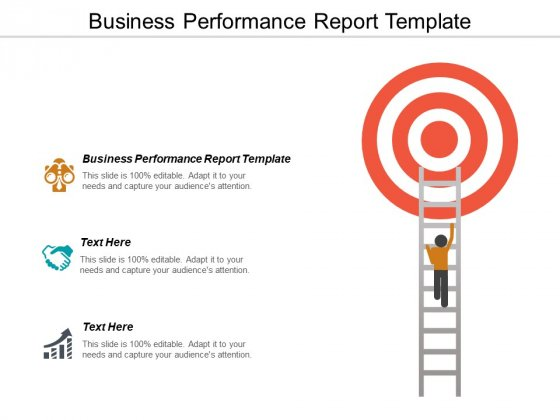Business Performance Report Template Ppt PowerPoint Presentation Layouts Influencers Cpb