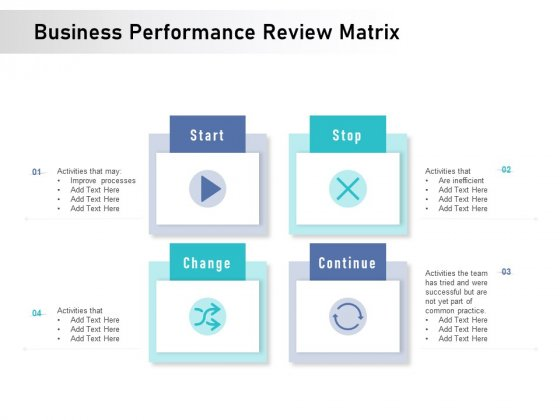 Business Performance Review Matrix Ppt PowerPoint Presentation Model Introduction